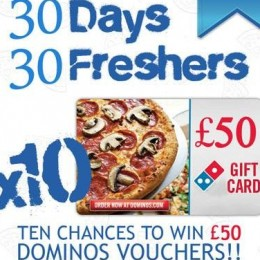 Enter GRB's Sweepstake For 10 Chances To Win A £50 Domino's Vouchers