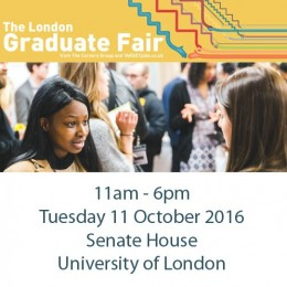 Don't Miss The London Graduate Fair from The Careers Group 2016