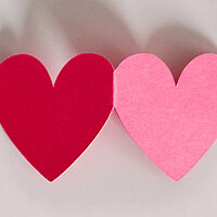 pink red hearts love