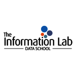 The Information Lab Data School black Logo on a white logo