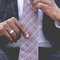 man suit tie work