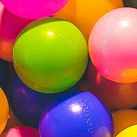 plastic colour balls