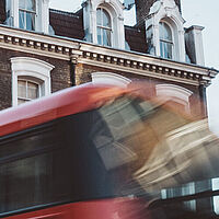 London bus and sky