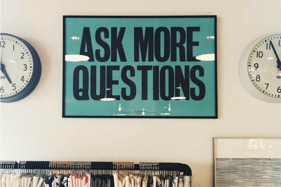 Ask Questions Poster