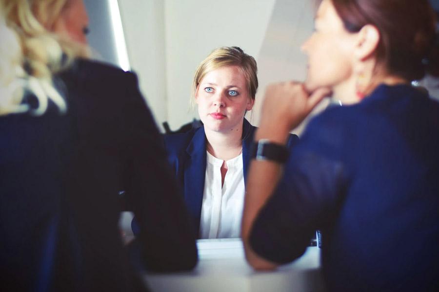 3 women in a Job Interview