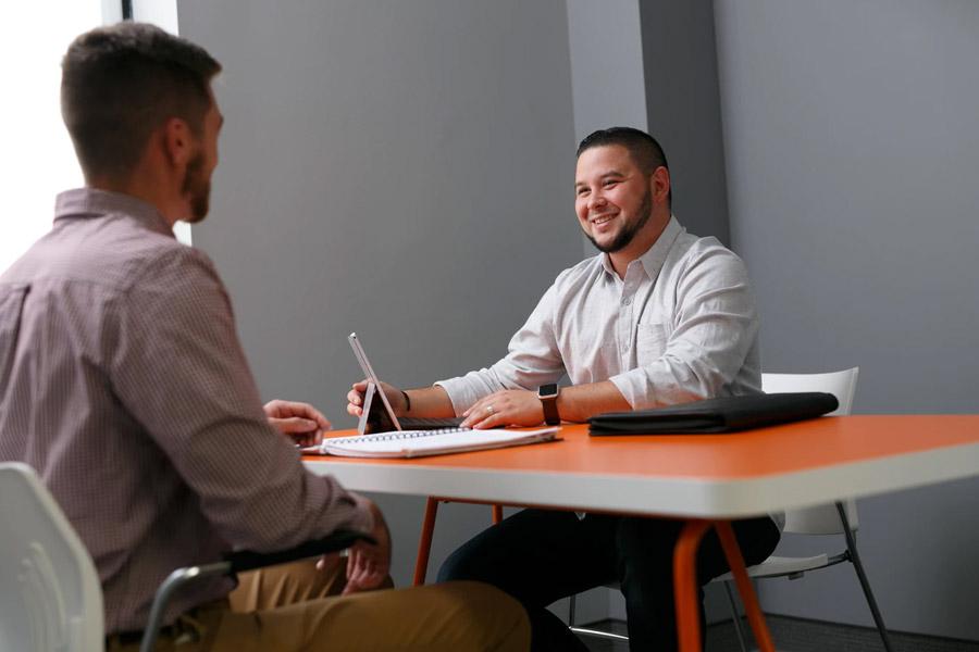 2 Men in a Job Interview