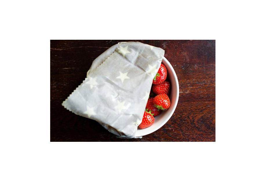 food wrap strawberry bowl