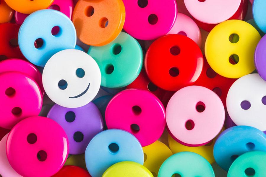 coloured smiley faces